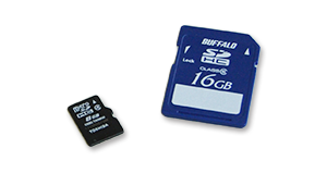 SDカードとmicroSDカード
