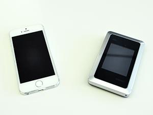 iPhoneとモバイルWi-Fiルーター