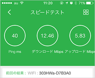 Yahoo!Wi-Fi測定